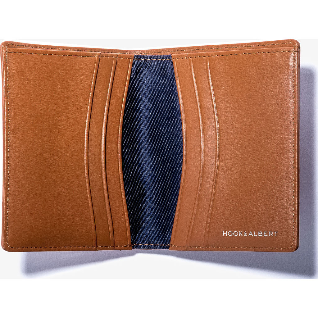 Hook & Albert Bi-Fold & Card Holder Wallet | Brown BFLCH-BRN-OS