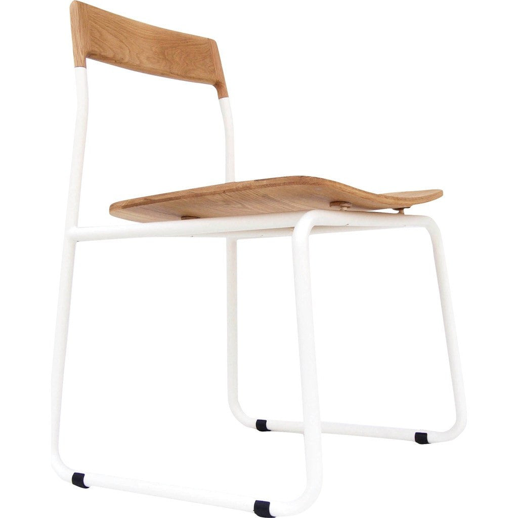 Bowery & Grand BG1121 Matte White Chair | Baker
