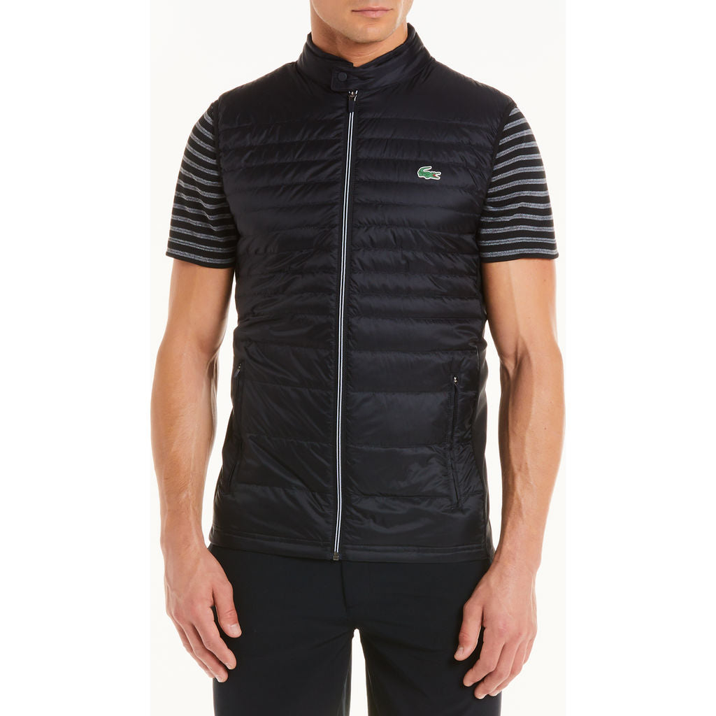 c03d6f9a76ff ... Lacoste Men s Sport Water-Resistant Quilted Technical Golf Vest ...
