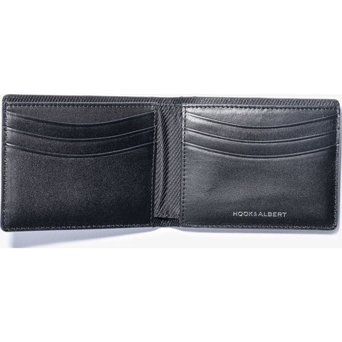 Hook & Albert Traditional Bi-Fold Wallet | Black BIFLD-BLK-OS