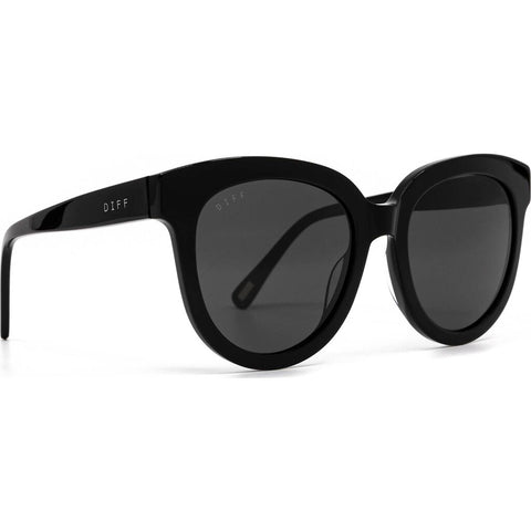 DIFF Eyewear April Sunglasses | Black + Grey Gradient Lens