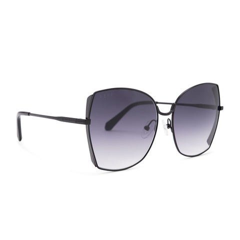 Diff Eyewear Donna Sunglasses | Black + Grey Gradient Lens