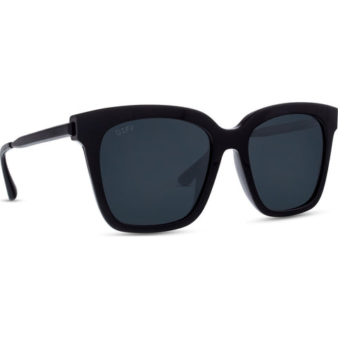 DIFF Eyewear Bella Polarized Sunglasses | Black + Grey Lens