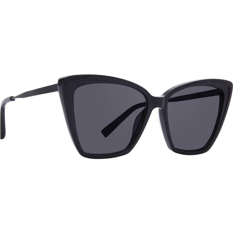 DIFF Eyewear Becky II Sunglasses | Black + Dark Smoke Polarized