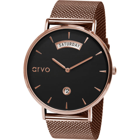 Arvo The Black Awristacrat Watch | Rose- BKAWRSRM36