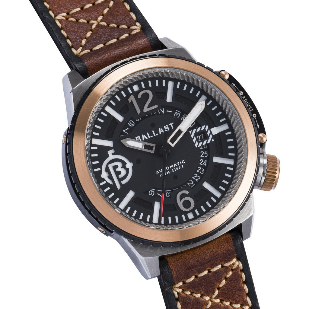 Ballast Trafalgar Stainless Steel Automatic Watch | Stainless/Brown BL-3133-01