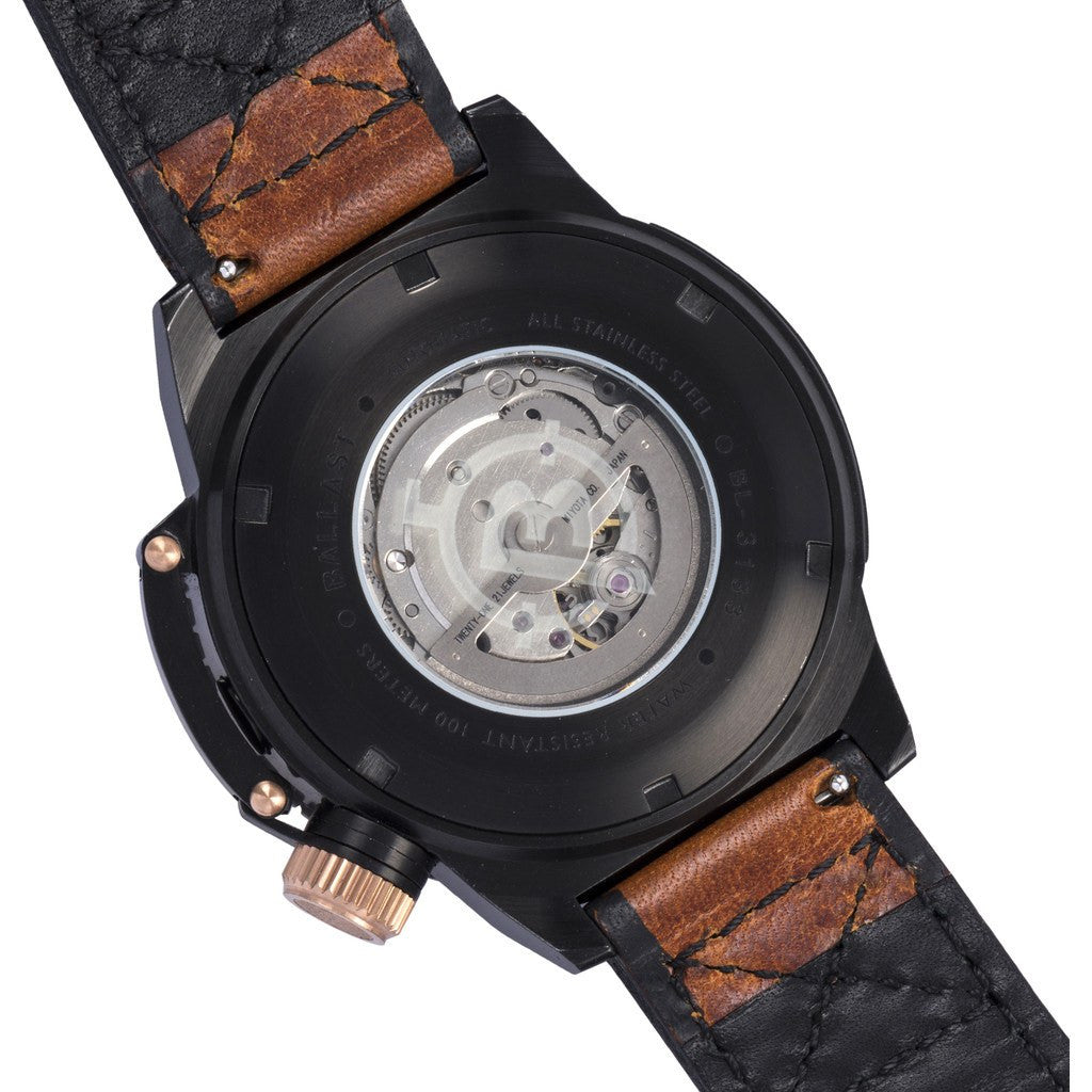Ballast Trafalgar Stainless Steel Automatic Watch | Black/Brown BL-3133-03