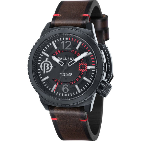 Ballast Trafalgar Stainless Steel Automatic Watch | Black/Dark Brown BL-3133-04