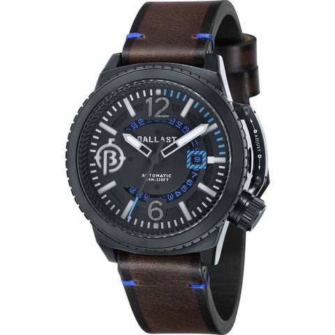 Ballast Trafalgar Stainless Steel Automatic Watch | Black/Dark Brown BL-3133-05
