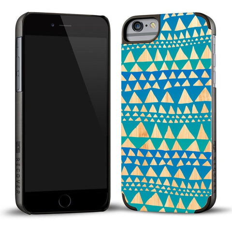Recover Printed Blue Triangle Wood iPhone 6 Case | Bamboo