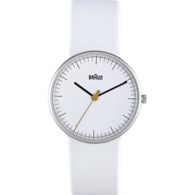 Braun BN0021 White Classic Analog Women's Watch | Leather BN0021WHWHL