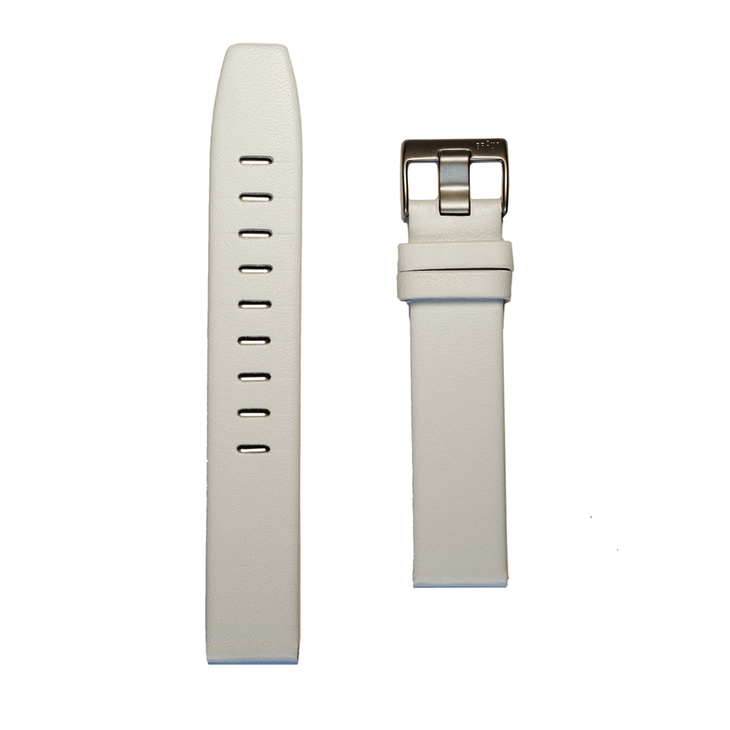 Braun BN0021 WHL Leather Strap | White