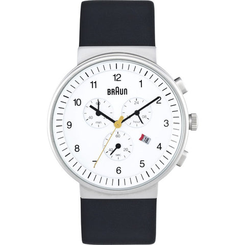 Braun BN0035 White Classic Watch | Leather BN0035WHBKG