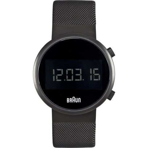 Braun BN0036 Matte Black Digital Men's Watch | Steel Mesh BN0036BKBKMHG