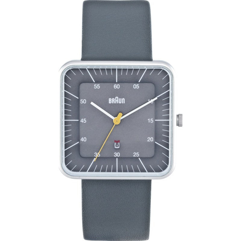 Braun BN0042 Classic Square Analog Men's Watch | Grey BN0042GYGYG