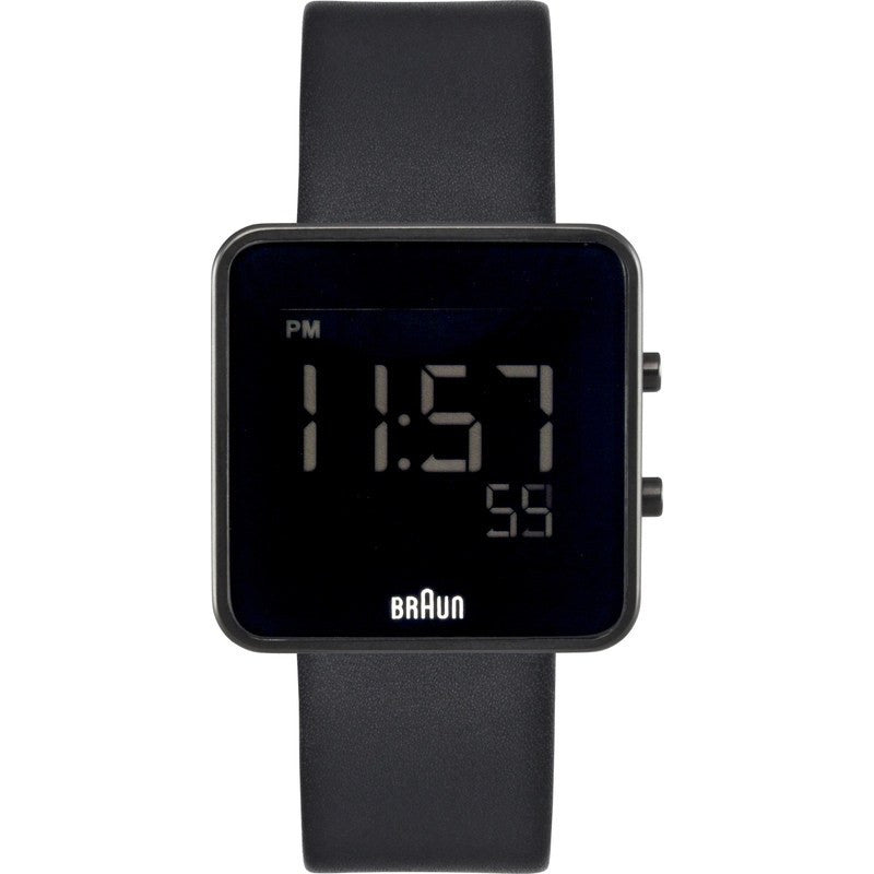 Braun BN0046 Black Digital Watch | Leather BN0046BKBKG