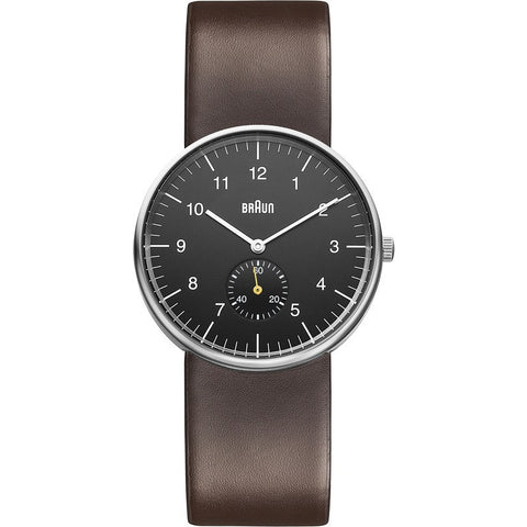 Braun BN0024 Black Classic Analog Men's Watch | Leather BN0024BKBRG