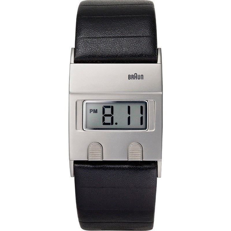 Braun BN0076 Black Digital Watch | Leather BN0076SLBKG