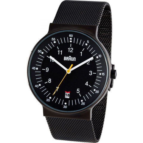 Braun 0082 Black Model 82 Men's Watch | Black Mesh Band