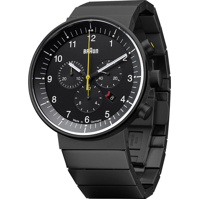 Braun BN0095 Black Prestige Analog Men's Watch | Steel BN0095BKBKBTG
