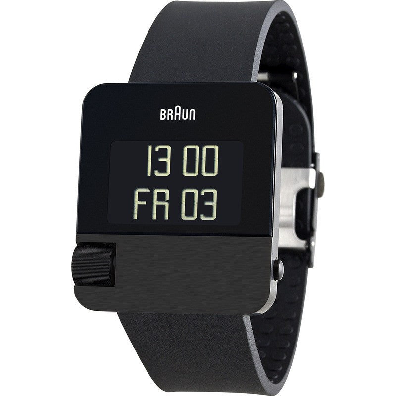 Braun BN0106 Black Prestige Digital Men's Watch | Rubber