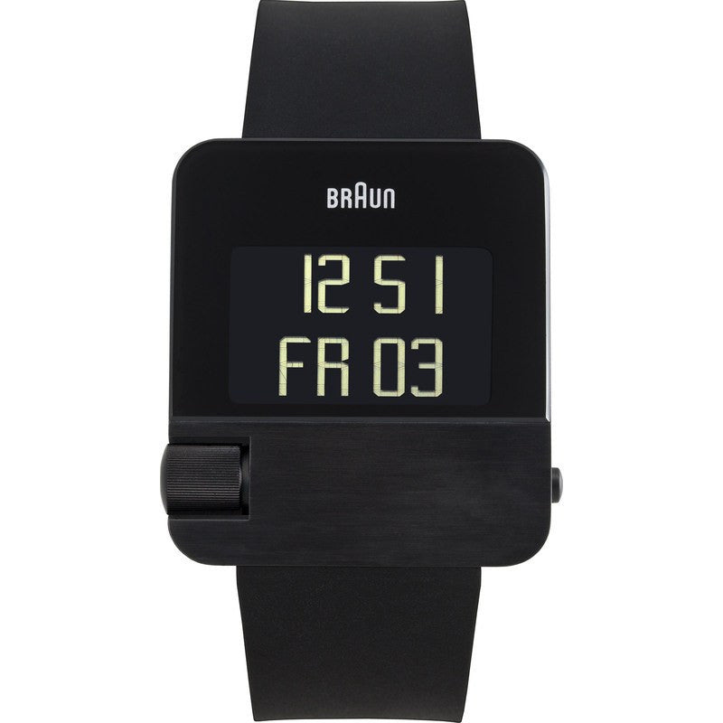Braun BN0106 Black Prestige Digital Men's Watch | Rubber BN0106BKBKG