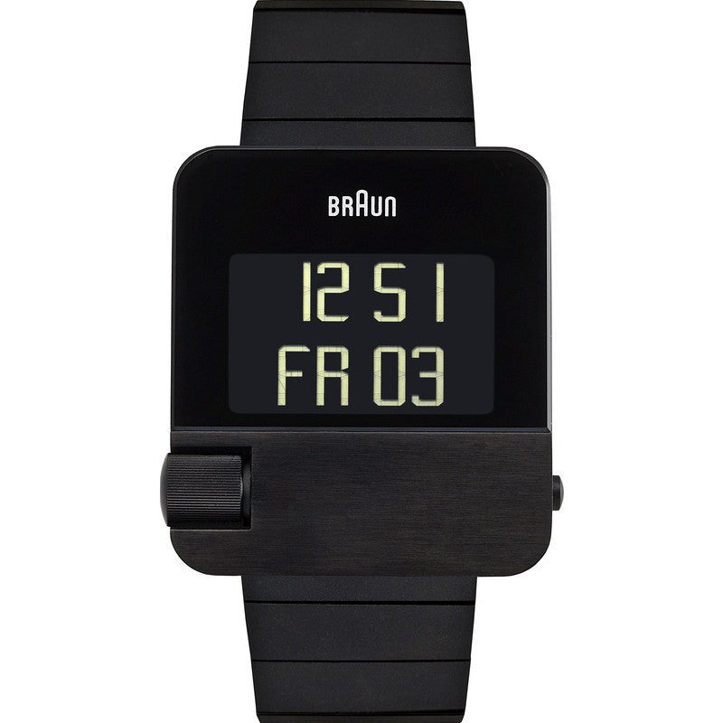 Braun BN0106 Black Prestige Digital Men's Watch | Steel BN0106BKBTG