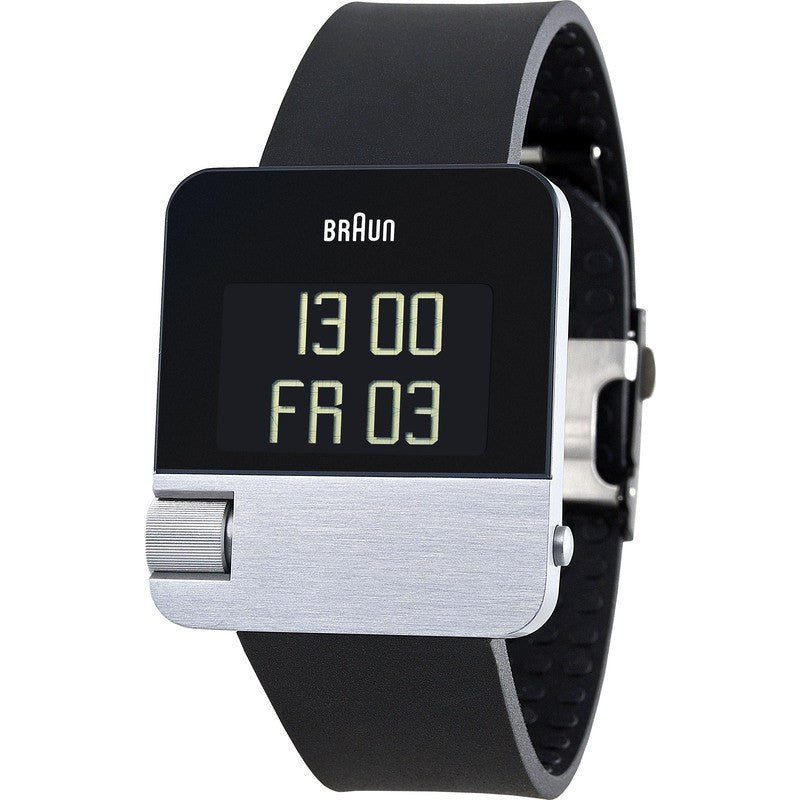 Braun BN0106 Silver Prestige Digital Men's Watch | Rubber