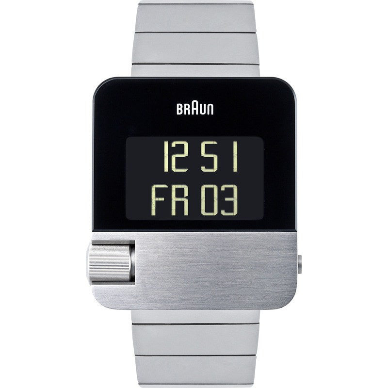 Braun BN0106 Steel Prestige Digital Men's Watch | Steel BN0106SLBTG