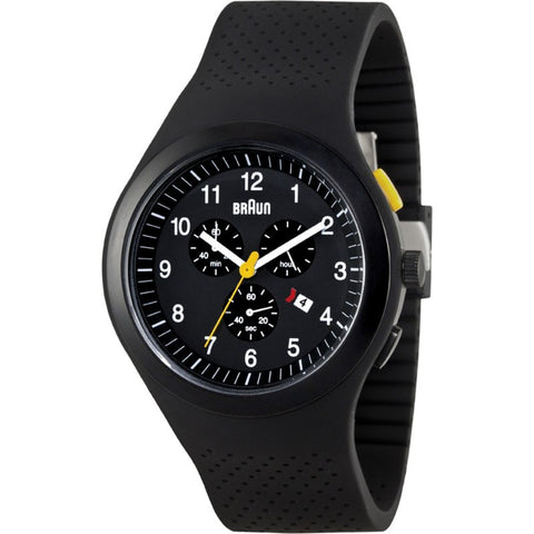 Braun BN0115 Black Sports Watch | Silicone BN0115BKBKG