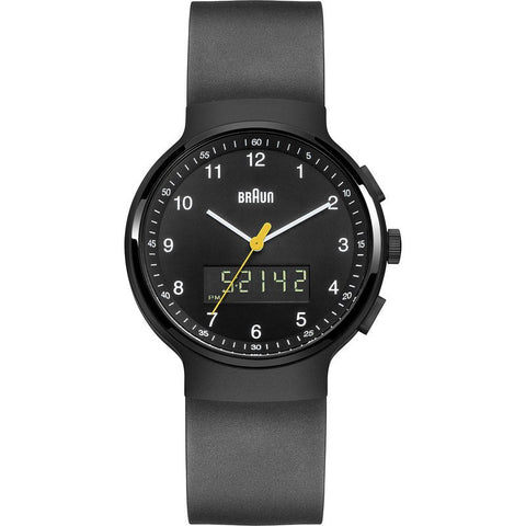 Braun BN0159 Black Ani-Digi Chronograph Men's Watch | Rubber BN0159BKBKG