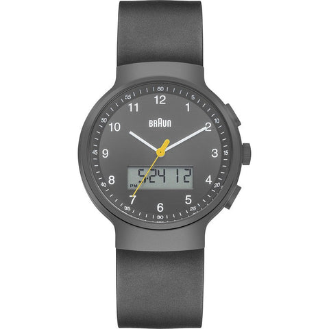 Braun BN0159 Grey Ani-Digi Chronograph Men's Watch | Rubber BN0159GYGYG