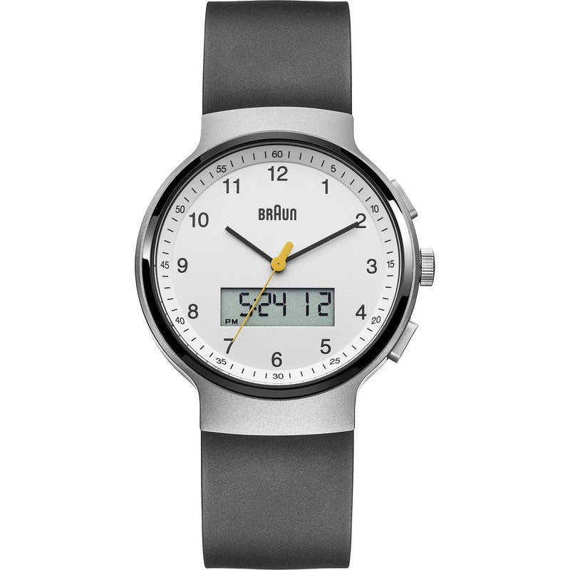 Braun BN0159 White Ani-Digi Chronograph Men's Watch | Rubber