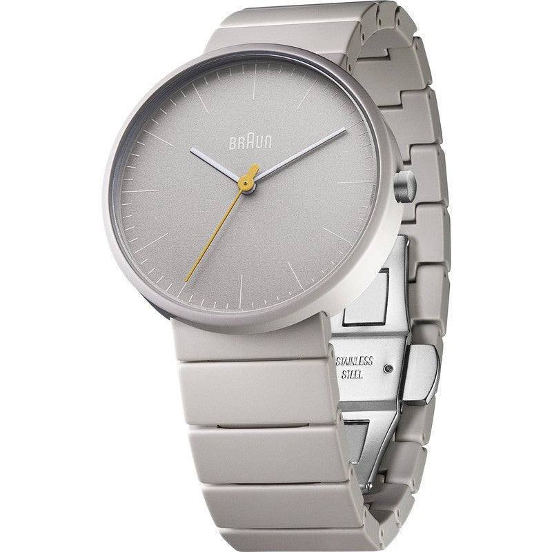 Braun BN0171 Full Ceramic Analog Men's Watch | Grey BN0171GYGYG