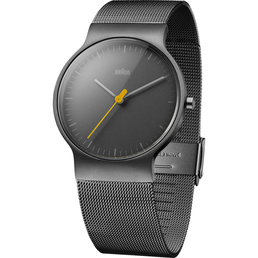 Braun 0211 Black Slim Men's Watch | Mesh
