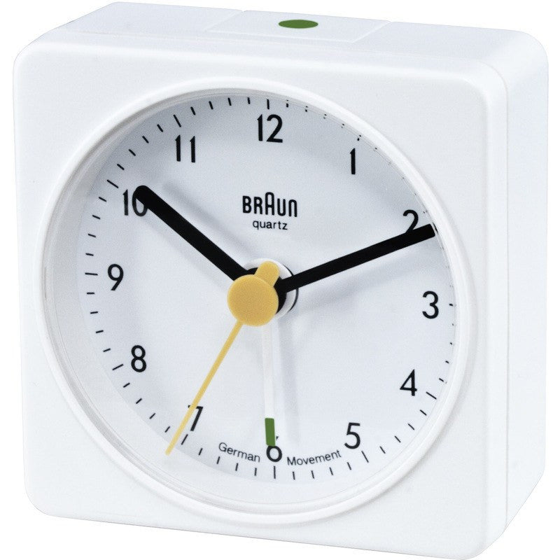 Braun Classic Square Travel Alarm Clock