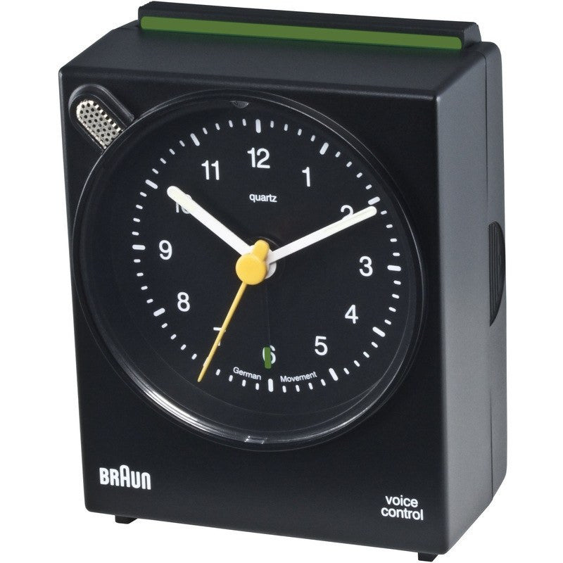 Braun Voice Activated Alarm Clock | Black BNC004BKBK