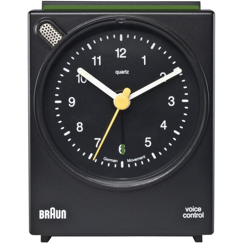 Braun Voice Activated Alarm Clock | Black