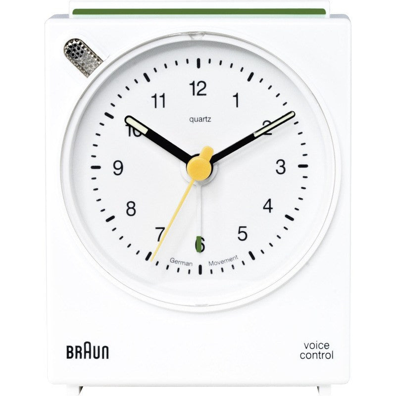 Braun Voice Activated Alarm Clock | White