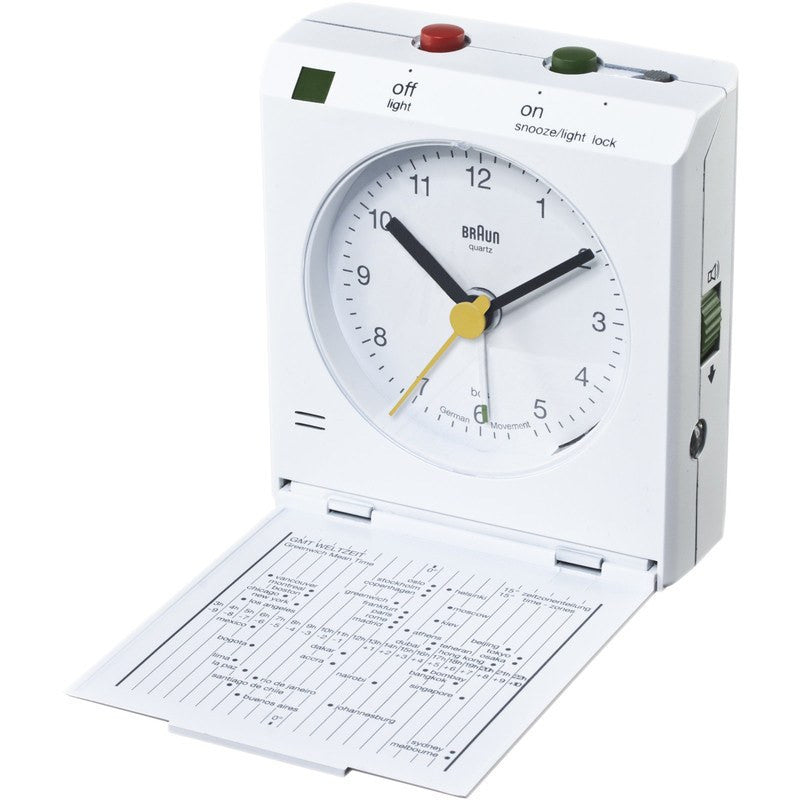 Braun Travel Alarm Clock | White BNC005WH
