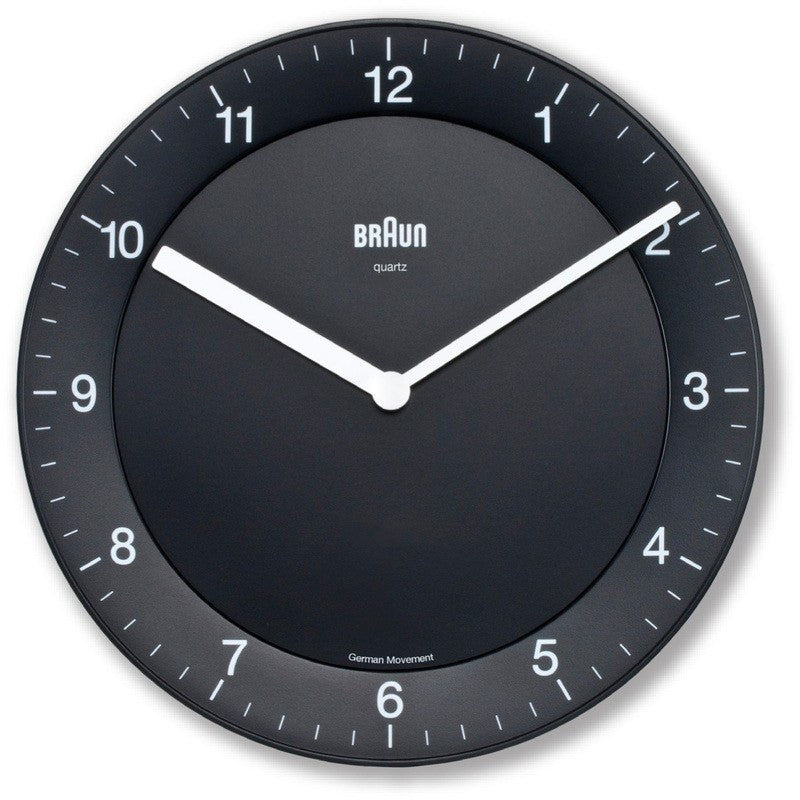 Braun Classic Analog Wall Clock | Black BNC006BKBK
