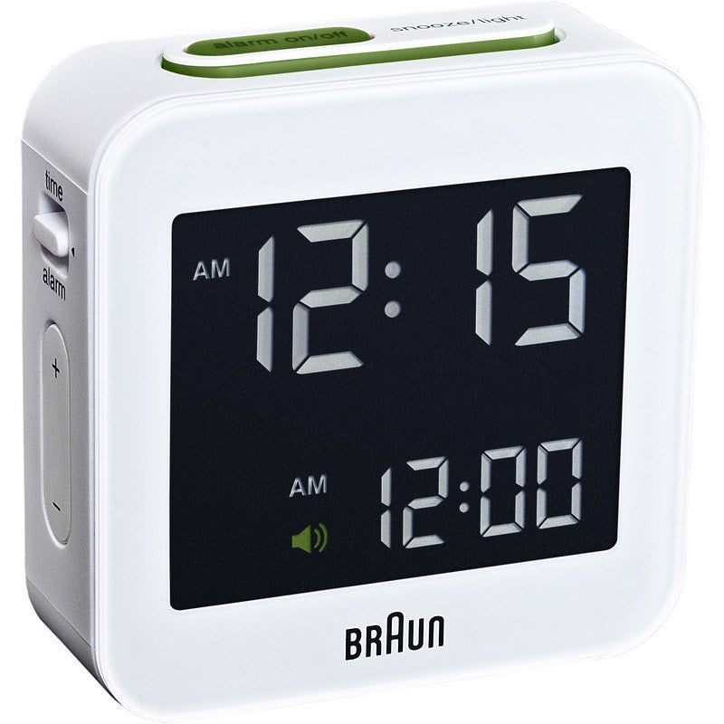 Braun Digital Alarm Clock | White BNC008WH