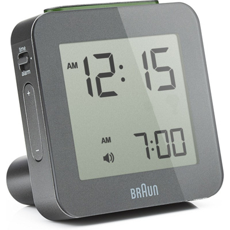 Braun Global Radio Controlled Alarm Clock | Grey BNC009GY-RC