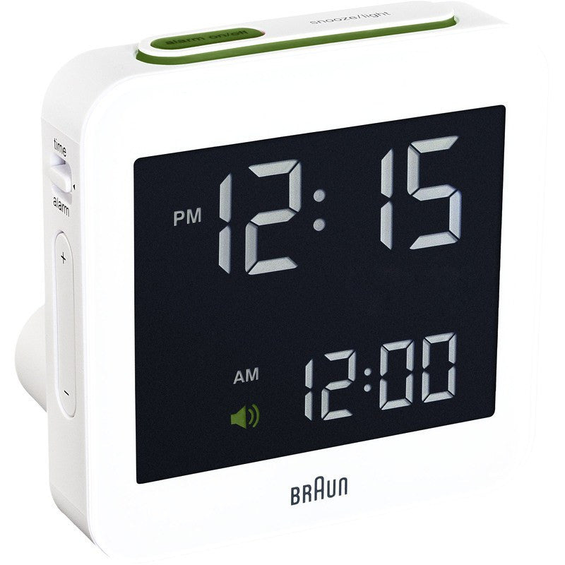 Braun Digital Alarm Clock | White BNC009WH