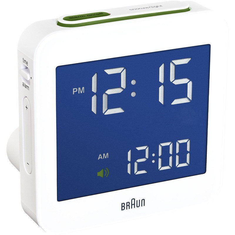 Braun BNC009 Digital Alarm Clock | White