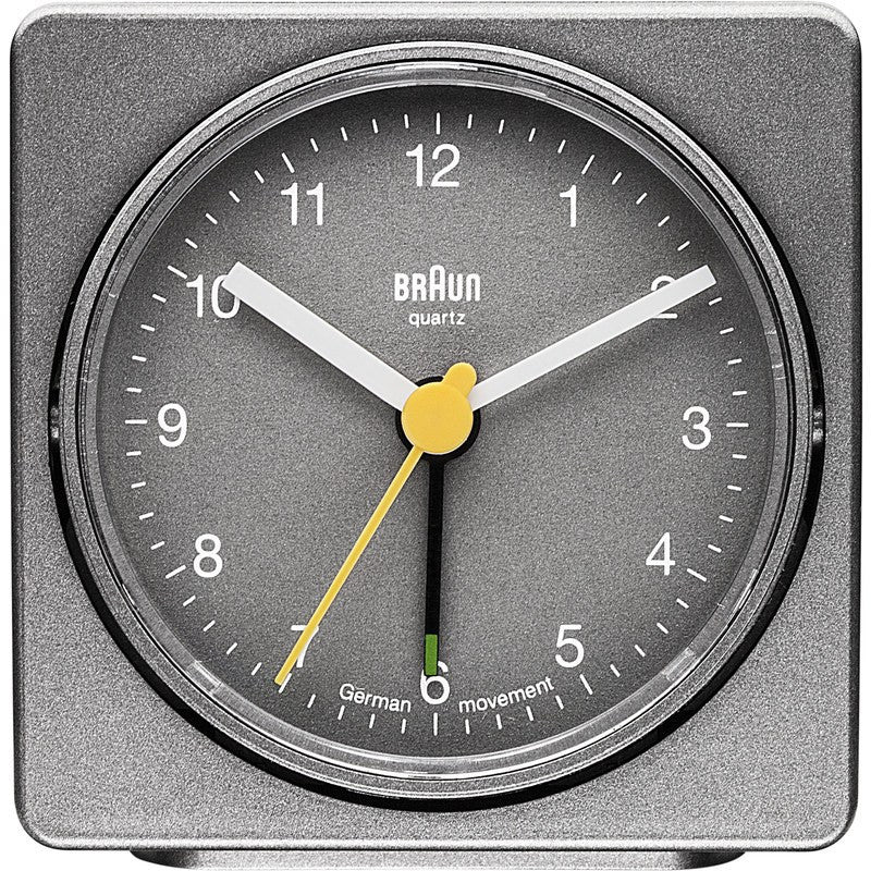 Braun Square Alarm Clock | Grey