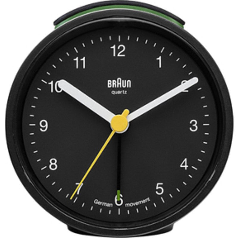 Braun Analog Round Alarm Clock | Black