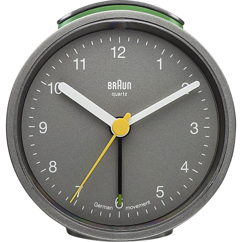 Braun Analog Round Alarm Clock | Grey
