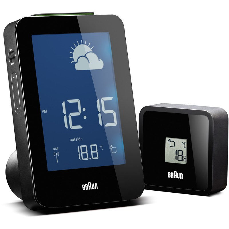 Braun Radio Controlled Weather Station | Black BNC013BK-RC