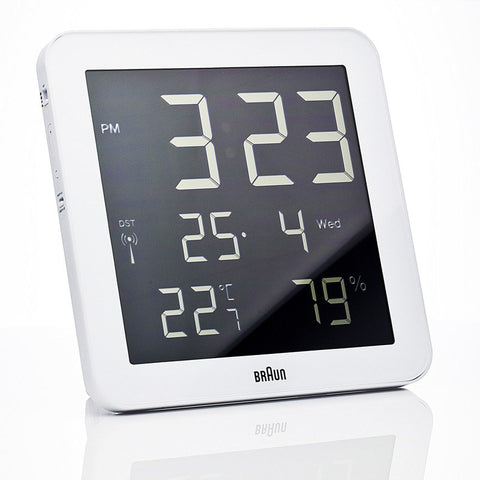 Braun Digital Wall Clock | White BNC014-RC-WH